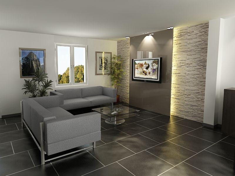 Mur de pierre encardement tv magnifique | SALON | Pinterest ...