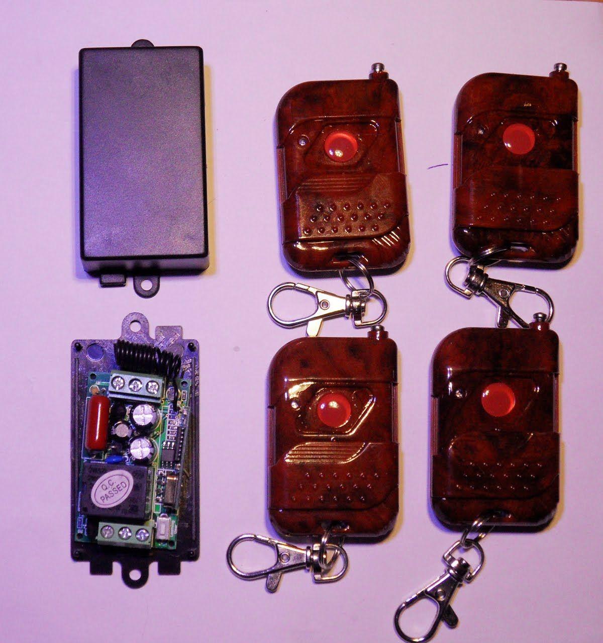 Circuito Emisor Receptor : Control remoto emisor y receptor inalambrico de v con