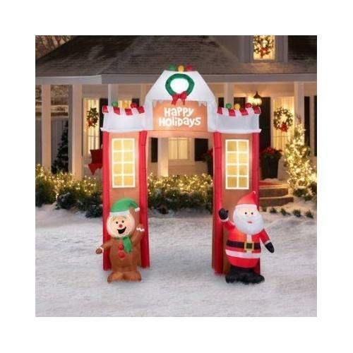 Airblown Inflatable Gingerbread Archway Christmas 106 Ft Tall Yard