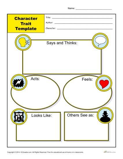 Character Traits Worksheets Character trait, Worksheets and - character analysis template