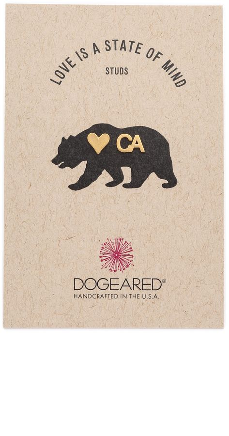 Dogeared Love Is a State of Mind CA Earrings