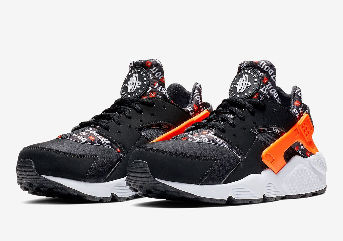 3bd18b37df6 The Nike Air Huarache Just Do It Features All-Over-Print On Neoprene ...