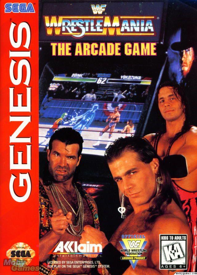 1995 SNES WWF WrestleMania The Arcade Game Video Game