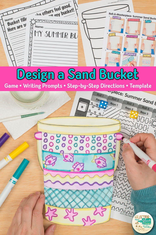 Sand Bucket Art Game Art integration lessons, Summer art