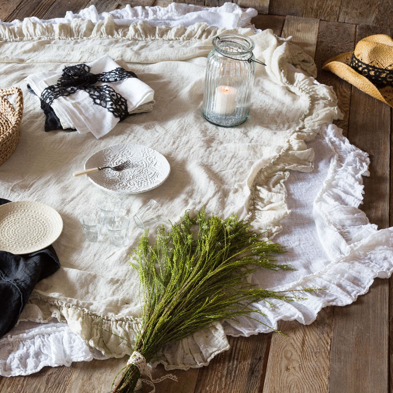 Bella Notte Tabletop Whisper Linen Tablecloth 20 Off Bella Notte