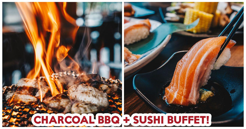 You Can Get Both Japanese Charcoal Bbq And Sushi Buffets At Yakiniku Ohji A Japanese Restaurant At Jubilee Square In Ang Mo Ki Sushi Buffet Sushi Charcoal Bbq