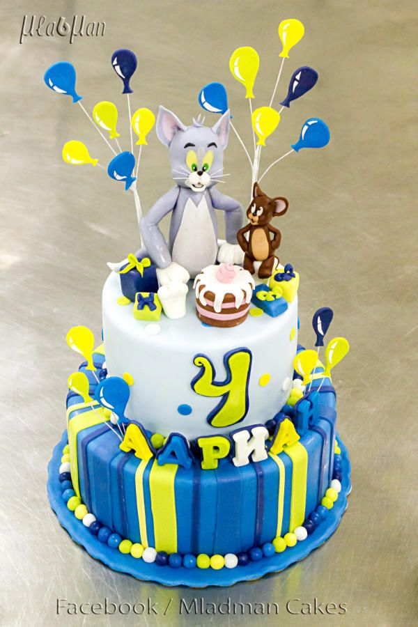 Tom and Jerry cake fondant Pinterest Cake Designer cakes and