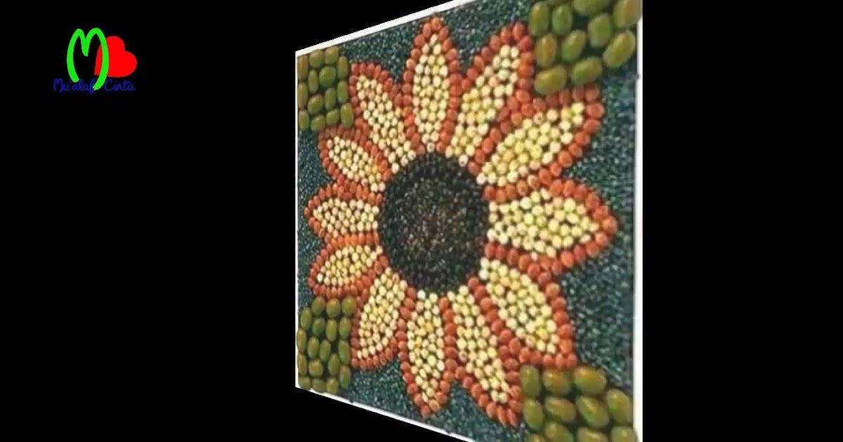 Terbaru 30 Gambar Kolase Bunga Matahari Dari Biji Bijian Keren Abizz Kreasi Nama Menggunakan Kuaci By Dodi Irfansyah Download Cara Memb Di 2020 Kolase Seni Gambar