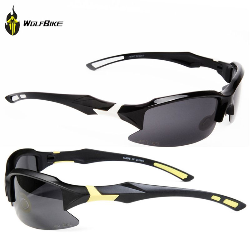 WOLFBIKE Men Polarized Cycling Glasses Outdoor Sports