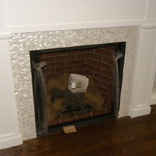 Mother-of-pearl fireplace tile | Family Space | Pinterest ...