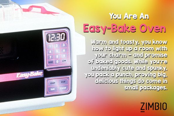 I took Zimbio's classic toy quiz, and I'm an Easy-Bake Oven! What