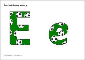 Football-themed display lettering (SB9608) - SparkleBox
