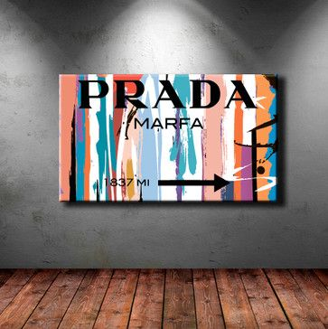 canvas print stretched wrapped prada marfa fashion wall. Black Bedroom Furniture Sets. Home Design Ideas