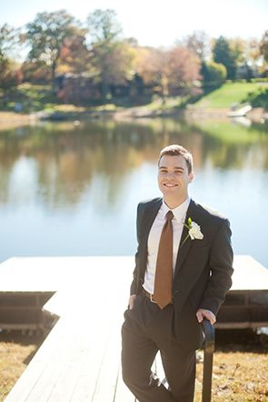 handsome groom// Backyard Wedding on the Water// http://www.catherinerhodesphotography.com/