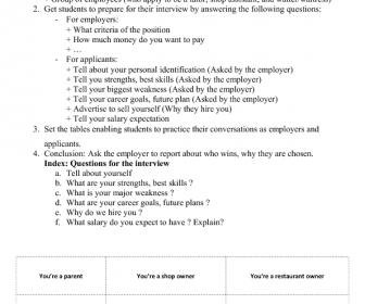 Job Interview Roleplay  Rp    Job Interviews
