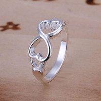 Ring infinity love heart