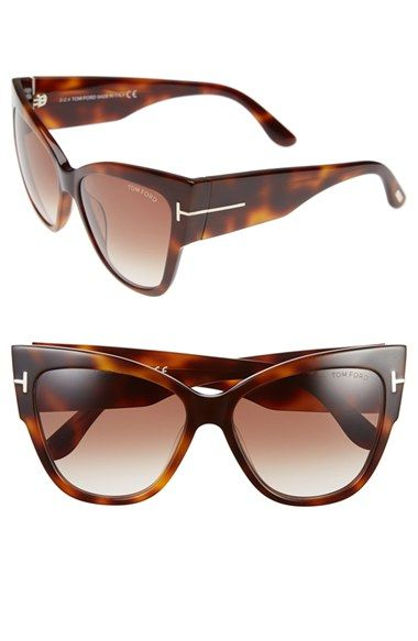 c918edb3dd8 Tom Ford  Anoushka  57mm Gradient Sunglasses available at  Nordstrom in SHINY  BLACK