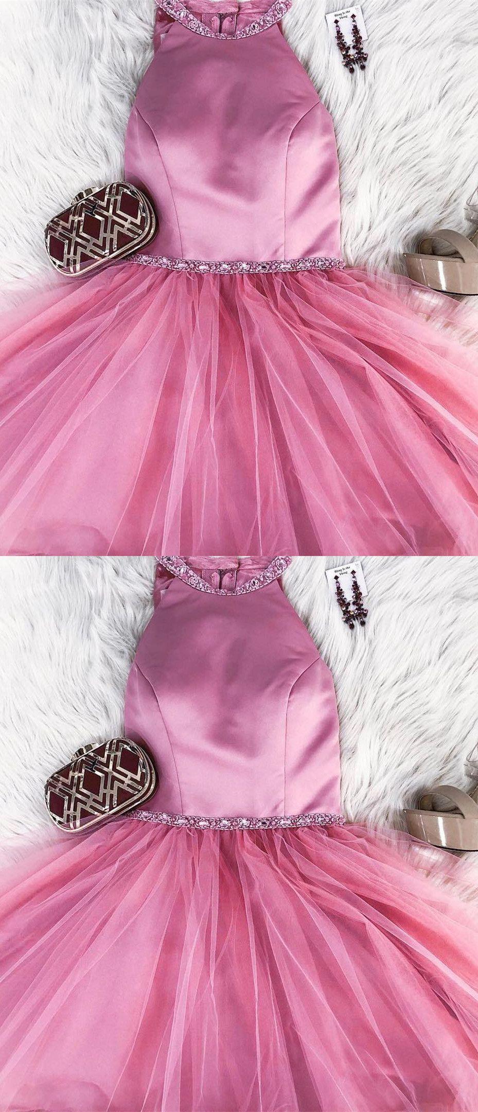 Princess short pink homecoming dress from modsele prom dresses