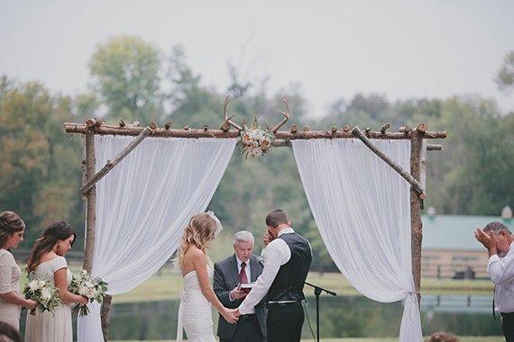 Former flower farm turned rustic wedding venue in North Carolina.