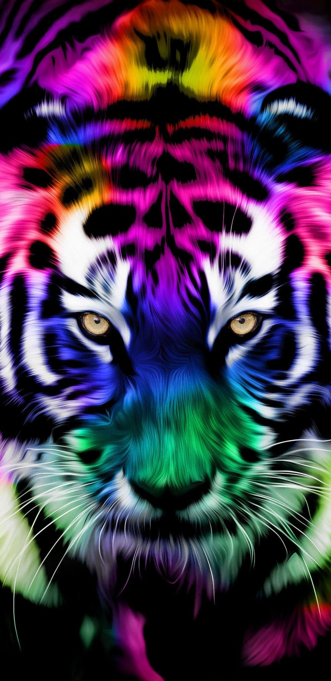 Tiger Phone Wallpaper Digital Download Kawaii Art