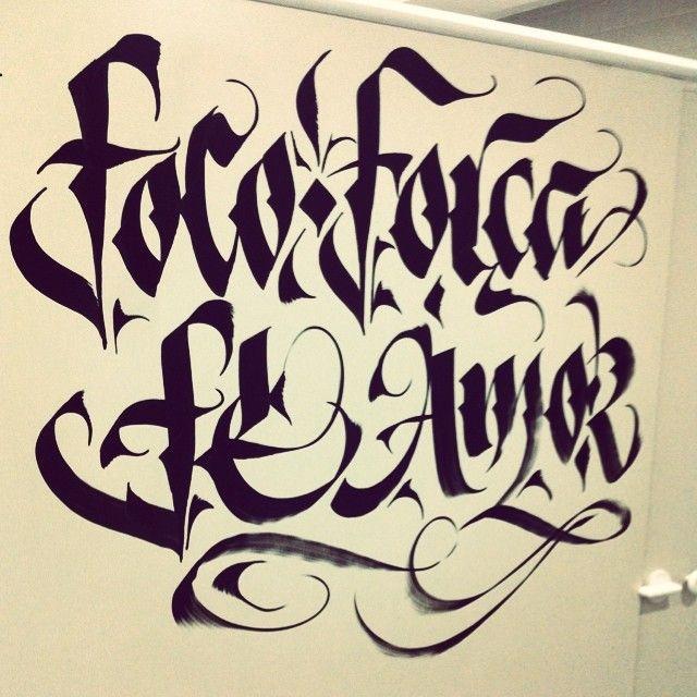 Foco, força, fé, amor…bom dia  #type #typography #tipocali #maquinario #estudiomaquinario #sp #love #lettering #handmade #handmadelettering #brasil #caligrafia #inspiration #espm #idea #calligraphy #handwriting #design #art  #letters #typeverything #sketch #sketchbook #ink #instart (em ESPM)