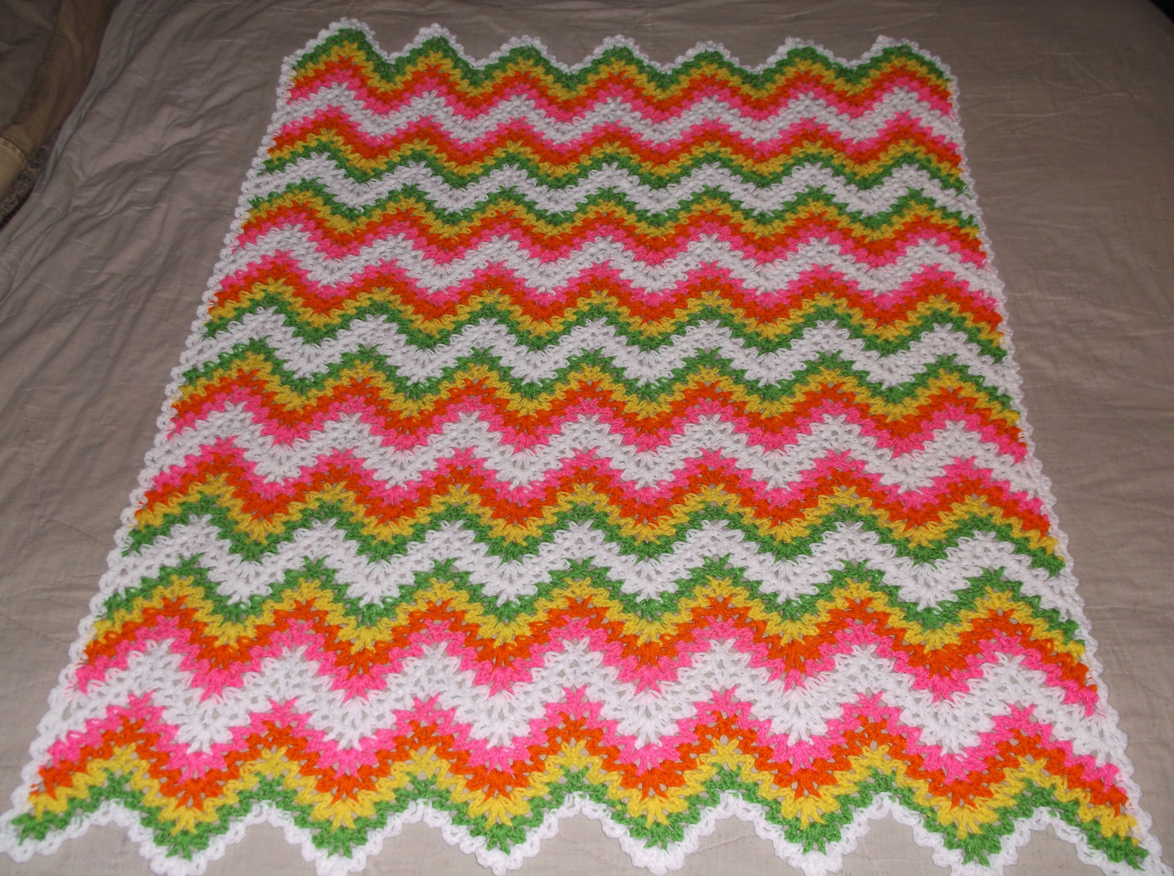 The Express V-Stitch Ripple Pattern | Crocheted afghans, Afghans and ...