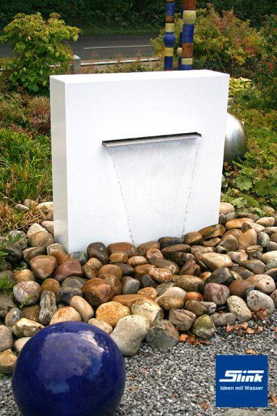 wasserfall aluminium gartenbrunnen stele ella ideen rund ums haus pinterest. Black Bedroom Furniture Sets. Home Design Ideas