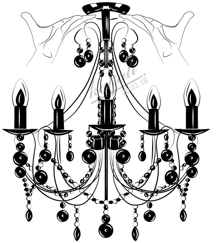 Vector chandelier draw with adobe illustratororiginal piece of art vector chandelier draw with adobe illustratororiginal piece of art created by me aloadofball Image collections