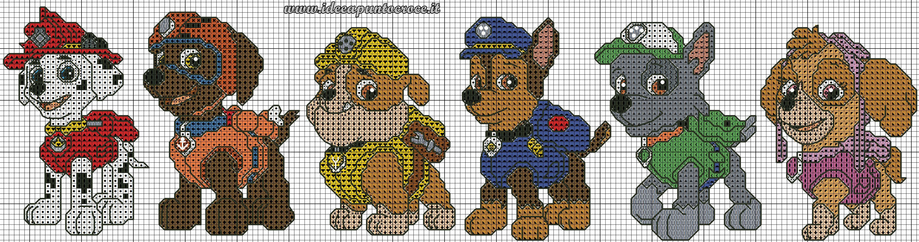 SCHEMA PAW PATROL PUNTO CROCE | to do | Pinterest | Bügelperlen ...