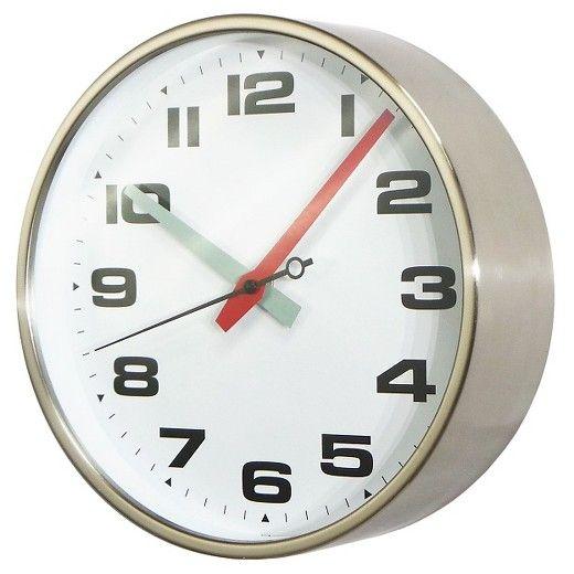 10 Round Wall Clock White Silver Threshold Wall Clock Round Wall Clocks Clock