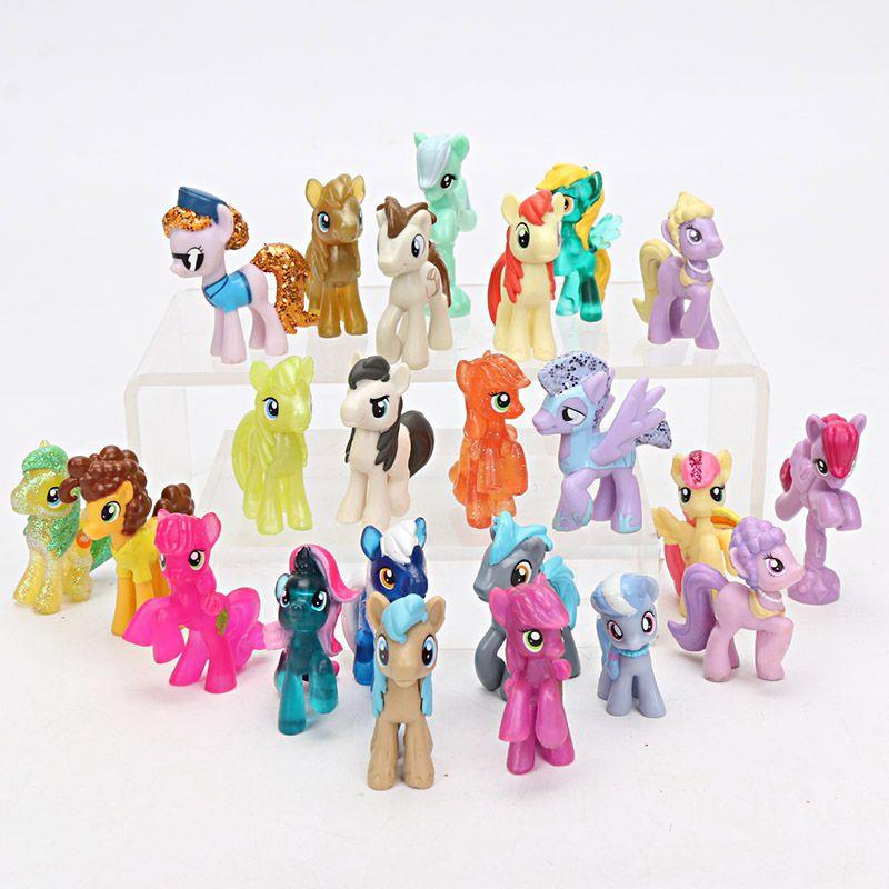 23pcs My Little Pony Toys Mini Pony Pvc Action Figures Set