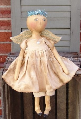 Angel Wings Doll and Punchneedle Pattern
