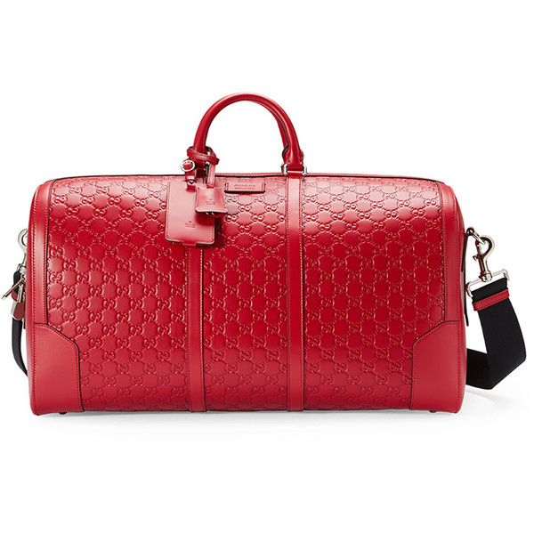 dcb3d9ca3d Gucci Signature Large Leather Duffel Bag ($2,850) ❤ liked on ...