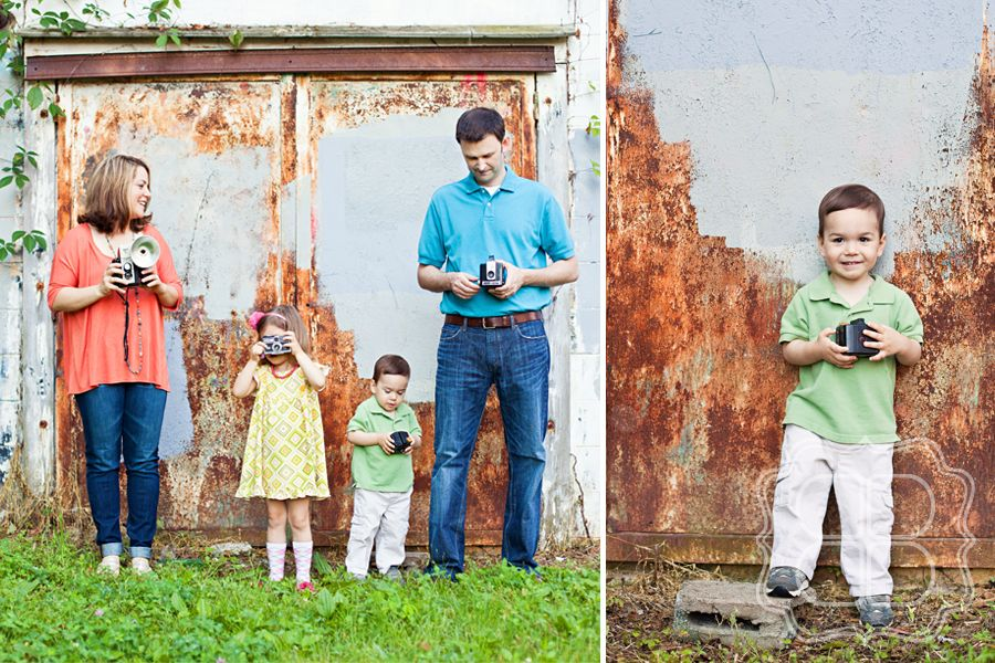 Family photo session using urban backdrop of noda area of charlotte nc with childrens photographer becca bond photography