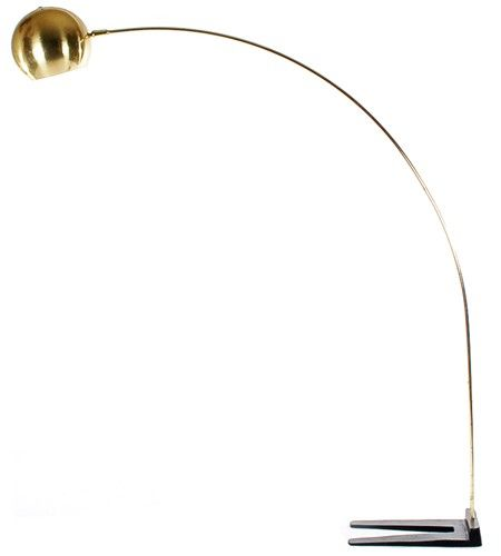 Brass Mid Century Danish Modern Arco Ball Floor Lamp