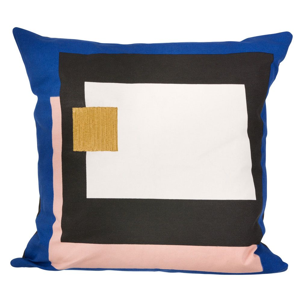 FRAGMENT CUSHION (BLUE) Designed by Trine Andersen | ferm LIVING available at Modern Intentions. Shop modern, organic cotton throw pillows!