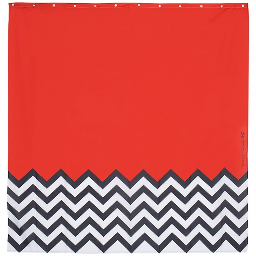 Twin Peaks Red Room Shower Curtain