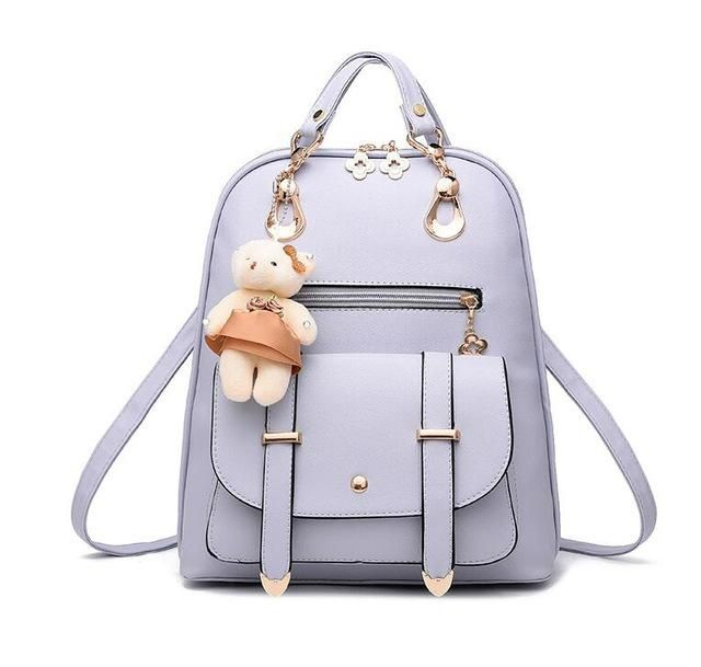 Vogue Star New Designer Women Backpack For Teens Girls Preppy Style School  Bag PU Leather Backpacks 867a9a3a531f6