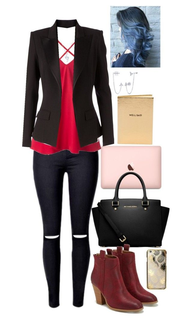 """""""New York dream"""" by kitkatgal on Polyvore featuring Dondup, Alexandre Vauthier, MICHAEL Michael Kors, BERRICLE, JustFab, Skinnydip and Chico's"""