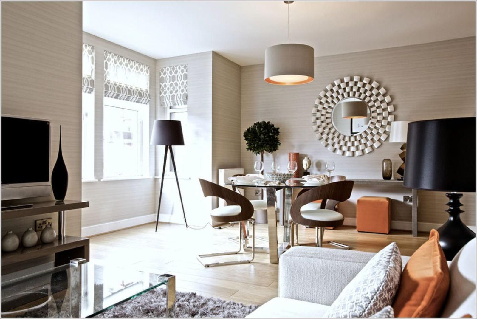 Round Wall Mirrors Living Room Designs