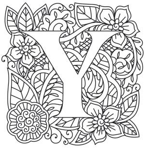 Mendhika Letter Y Coloring Letters Coloring Pages Colouring Pages