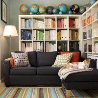 Farverig stue