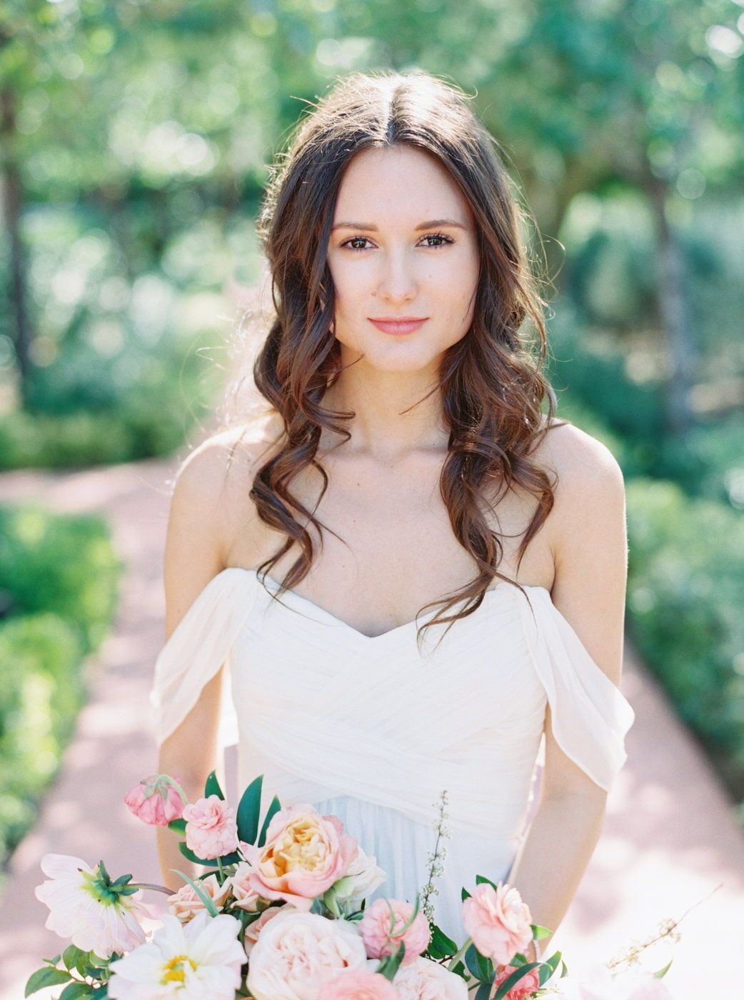 Spring Wedding style Hair down, free flowing romantic