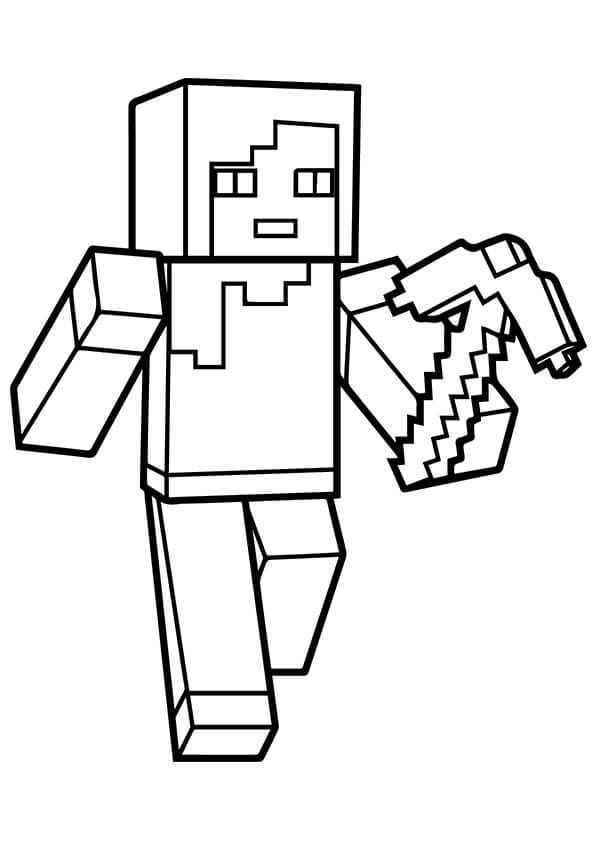 Minecraft Alex Coloring Page Minecraft Coloring Pages Minecraft Printables Coloring Pages