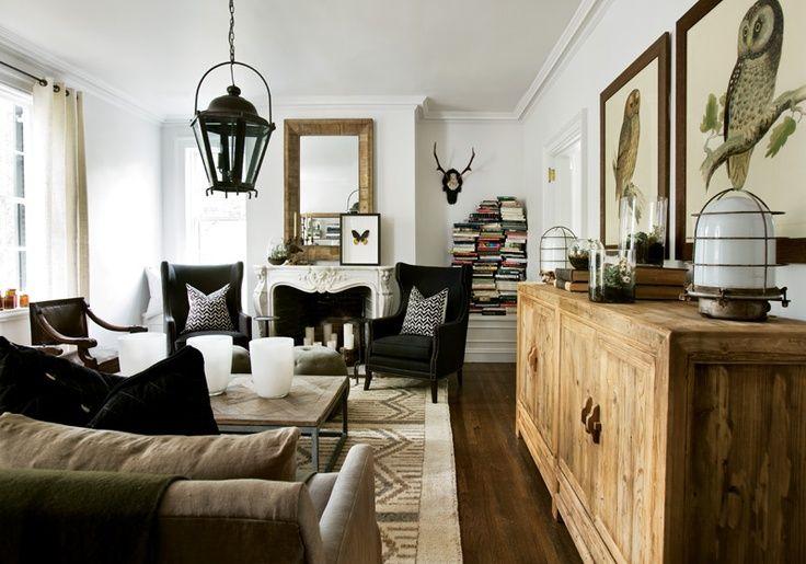 inspiring industrial farmhouse living room | Industrial farmhouse cottage vintage living room ...