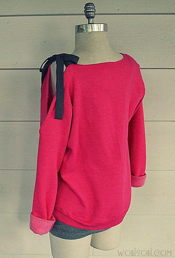Side Bow Sweatshirt DIY -   17 diy Clothes sweater ideas