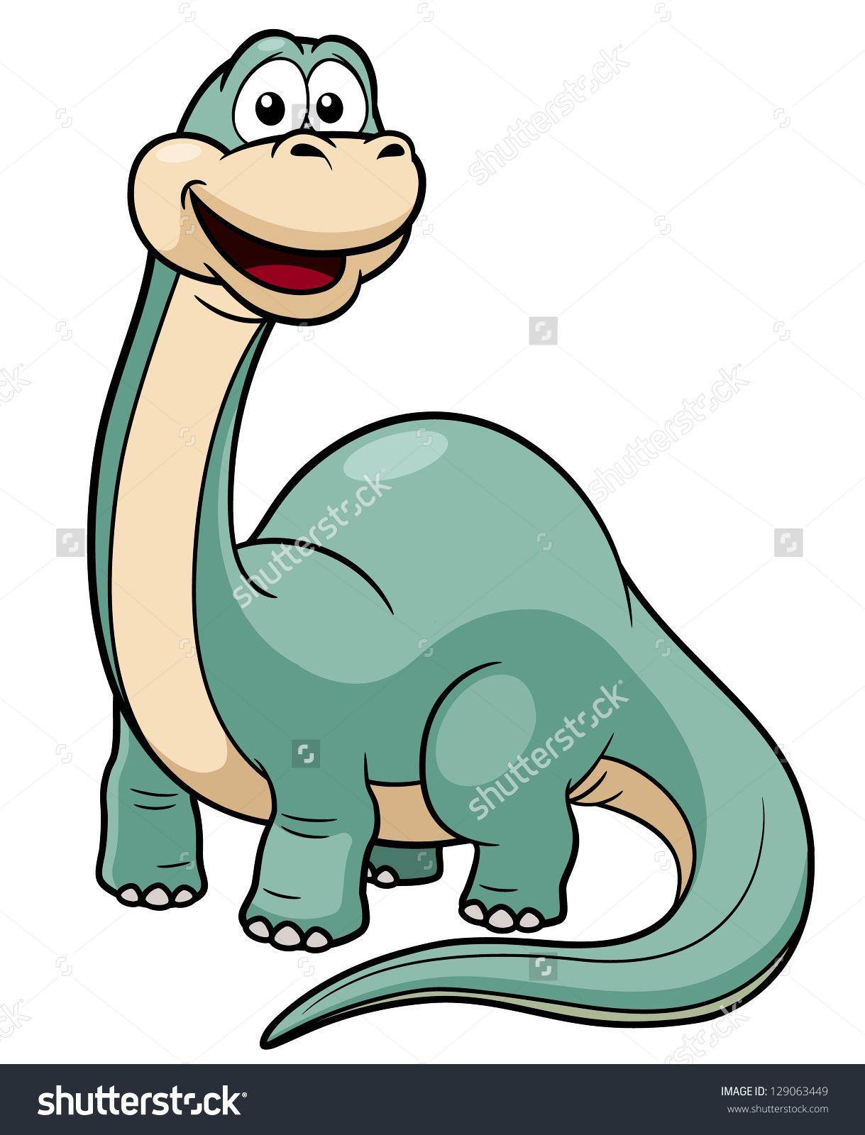 Illustration Of Cartoon Dinosaur Vector - 129063449 : Shutterstock ...