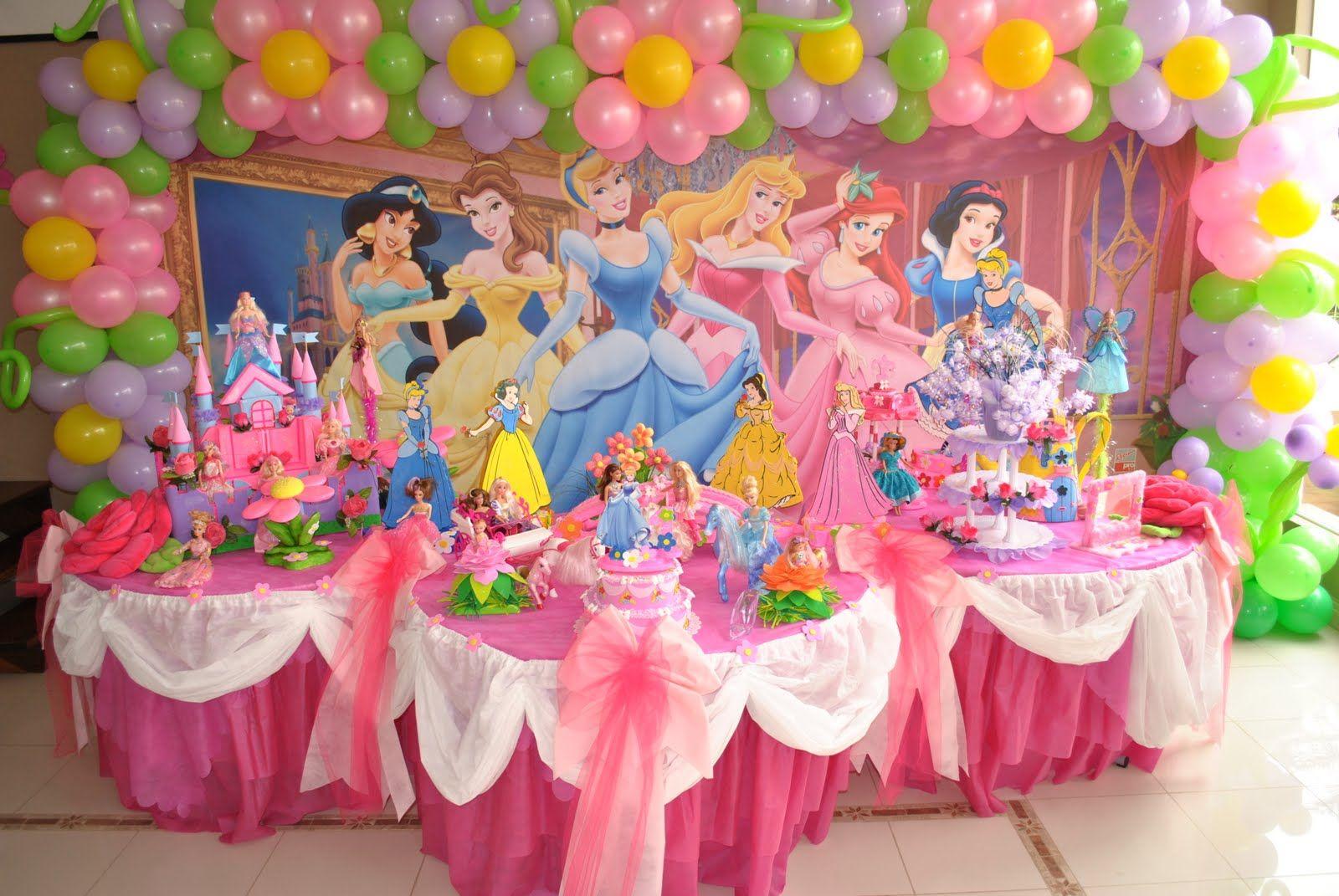 kids party disney princesses decor | Princess theme party, Disney princess theme party, Princess ...