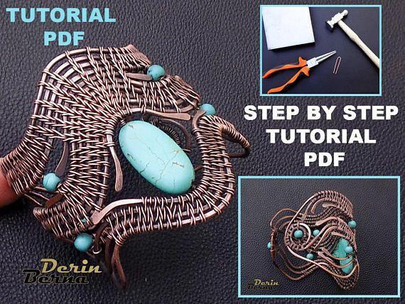 Wire wrapping bracelet tutorialjewelry tutorialPDF lesson | Draht ...