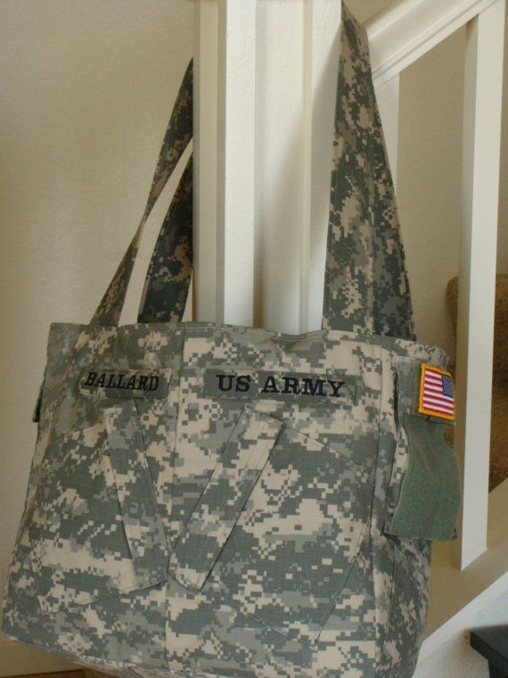 565806f2b555 bags made from military uniforms | Ex-Large Lia Military Army Purse ...